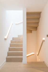 Modern staircase and handrails