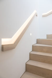 modern handrails and staircase