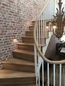 Kandd Up and Down Staircase with Chandelier