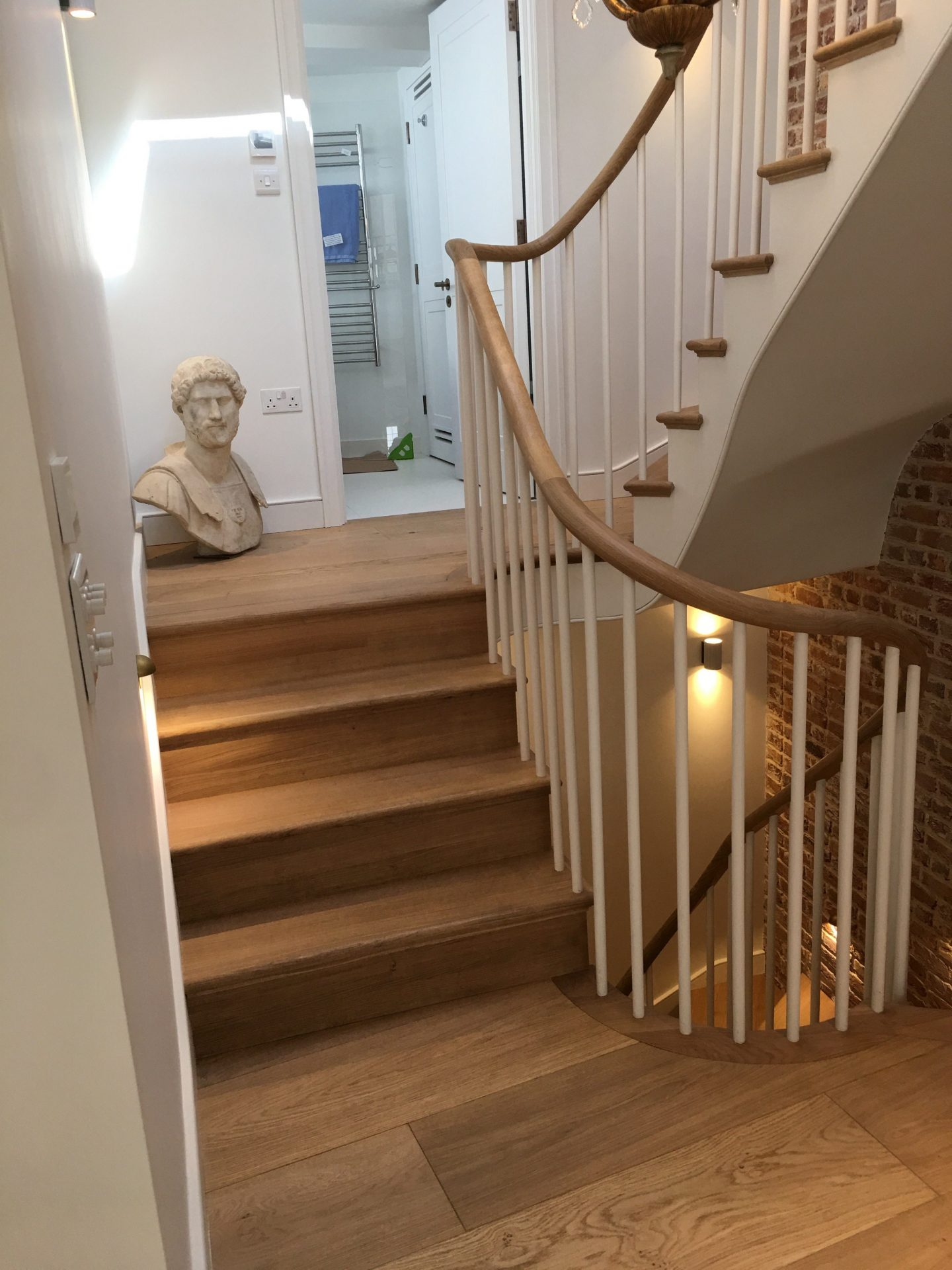 Kandd Up and Down Staircase With Roman Bust