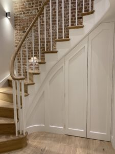 Up and Down Classic Staircase with handrail