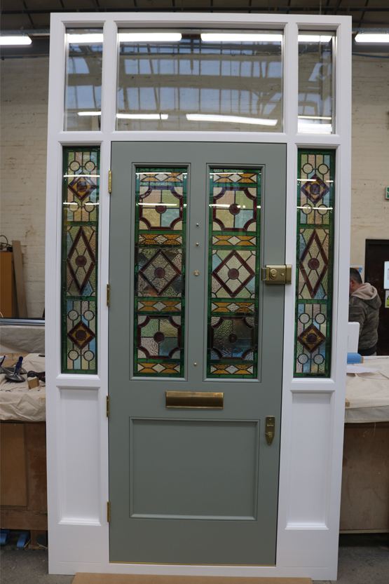 Victorian Front Door, Wooden, stained glass - London