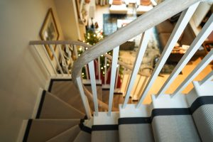 Curved handrail and staircase