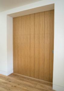 wooden plank internal door large