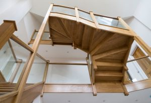 Modern wood staircase - K&D Joinery London