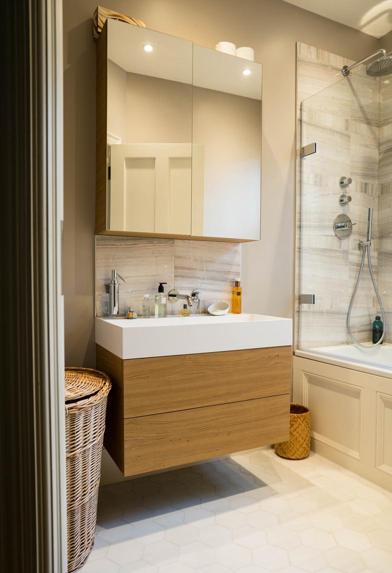 modern bathroom sink and mirror unit
