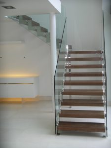 Wood and glass Staircase. K&D Joinery Dagenham