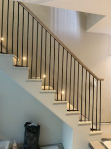 Handrail and staircase in construction