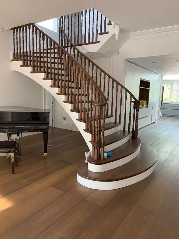 beautiful brown white and brown stairs