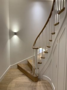 Up and Down Staircase with handrail