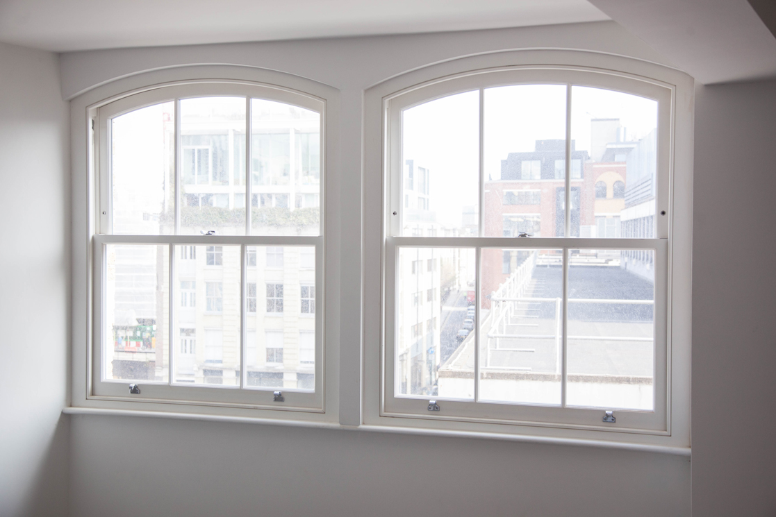 bright white sash windows london