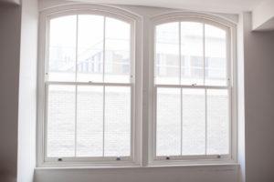 bright white sash windows