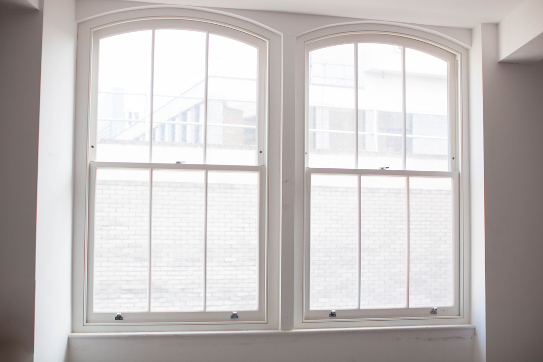 bright white sash windows