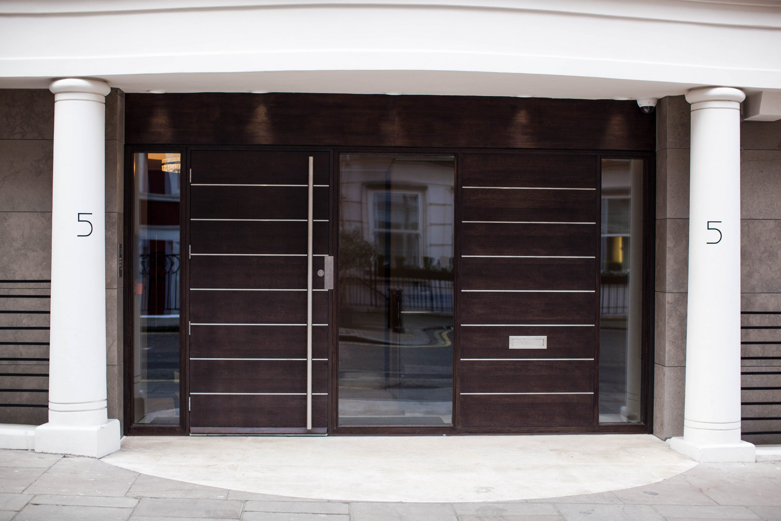 Timber Front Entrance Doors, Wood, London