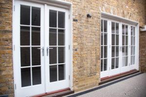 set of french window doors