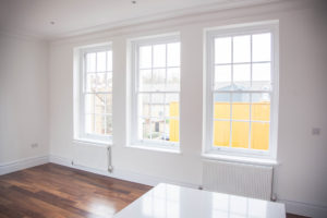 white sash windows from inside