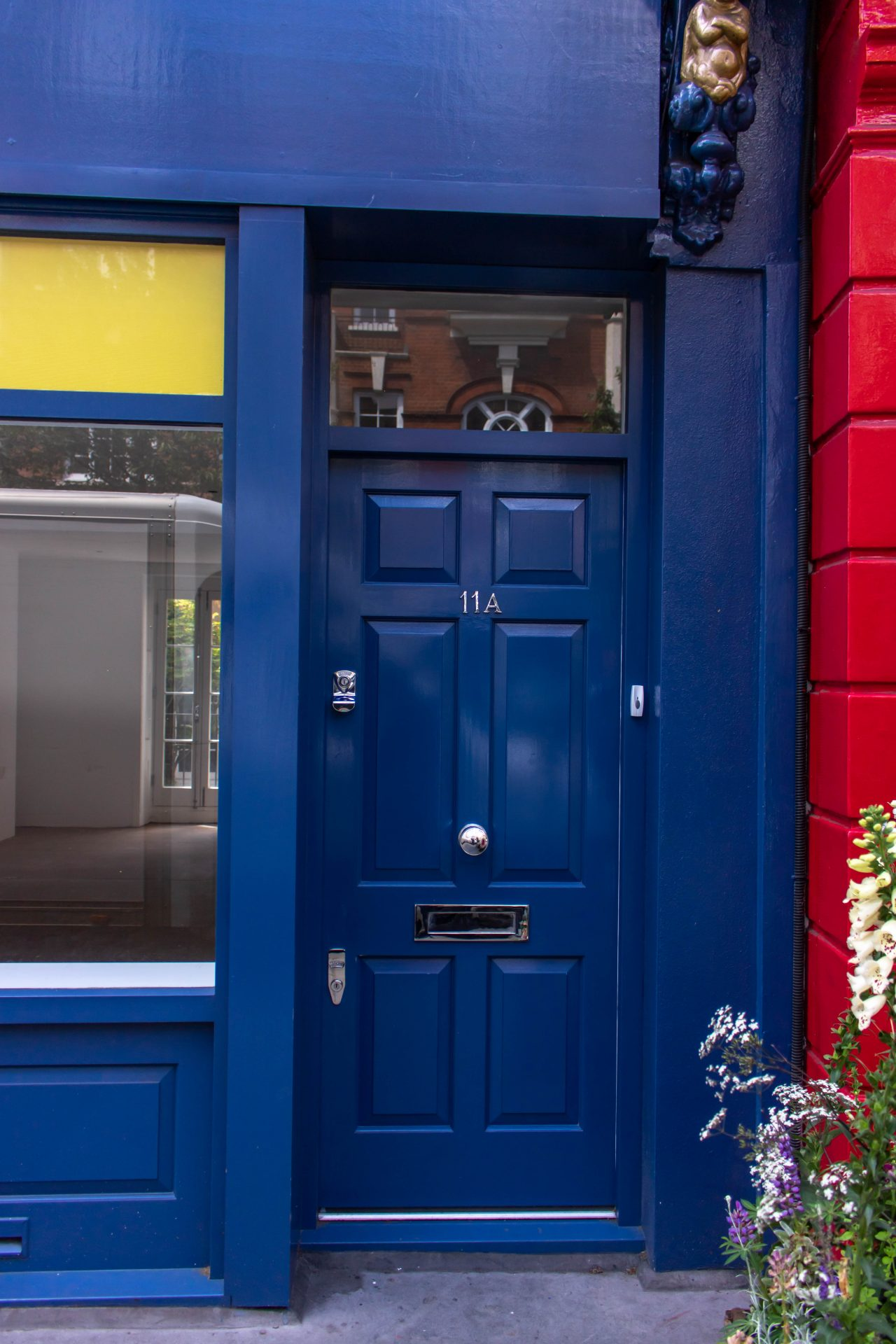 blue shopfront door in london