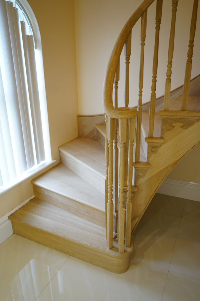 Oak Wood Staircase - K&D joinery