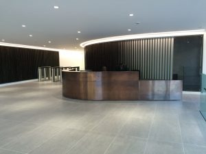 Kandd reception area cabinetry