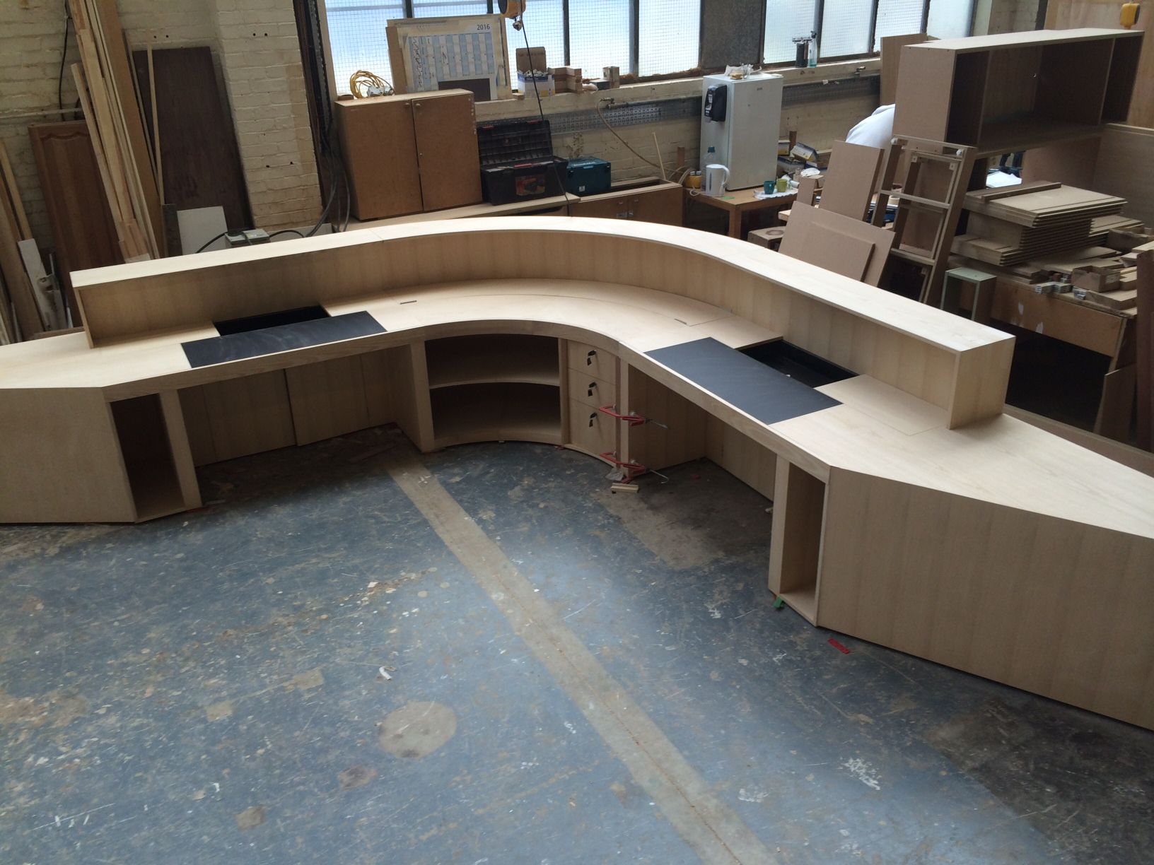 Kandd reception desk cabinetry