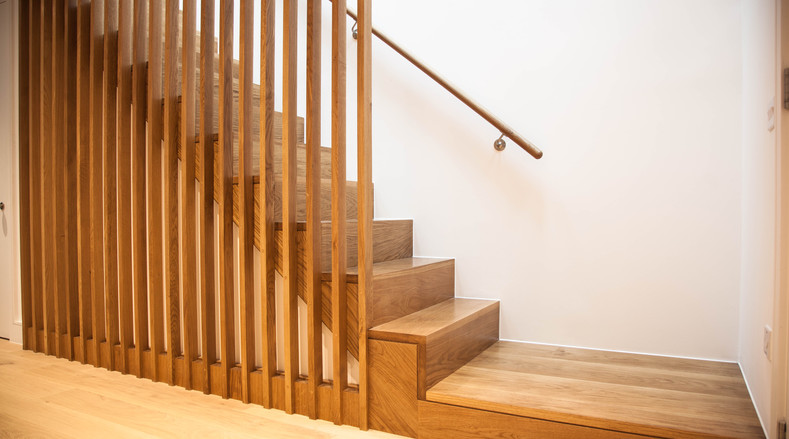 Wood staircase - Paradise Street, London