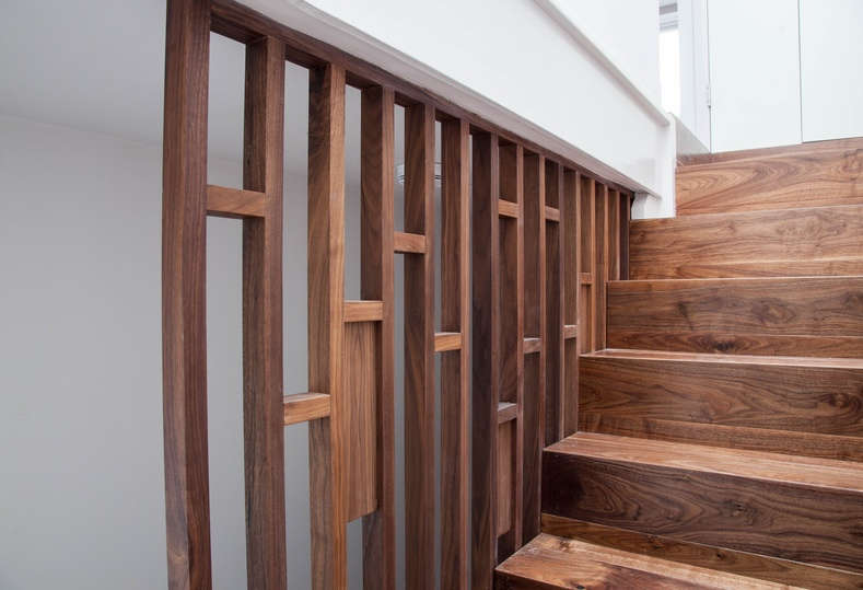 Wood staircase - K&D Joinery London