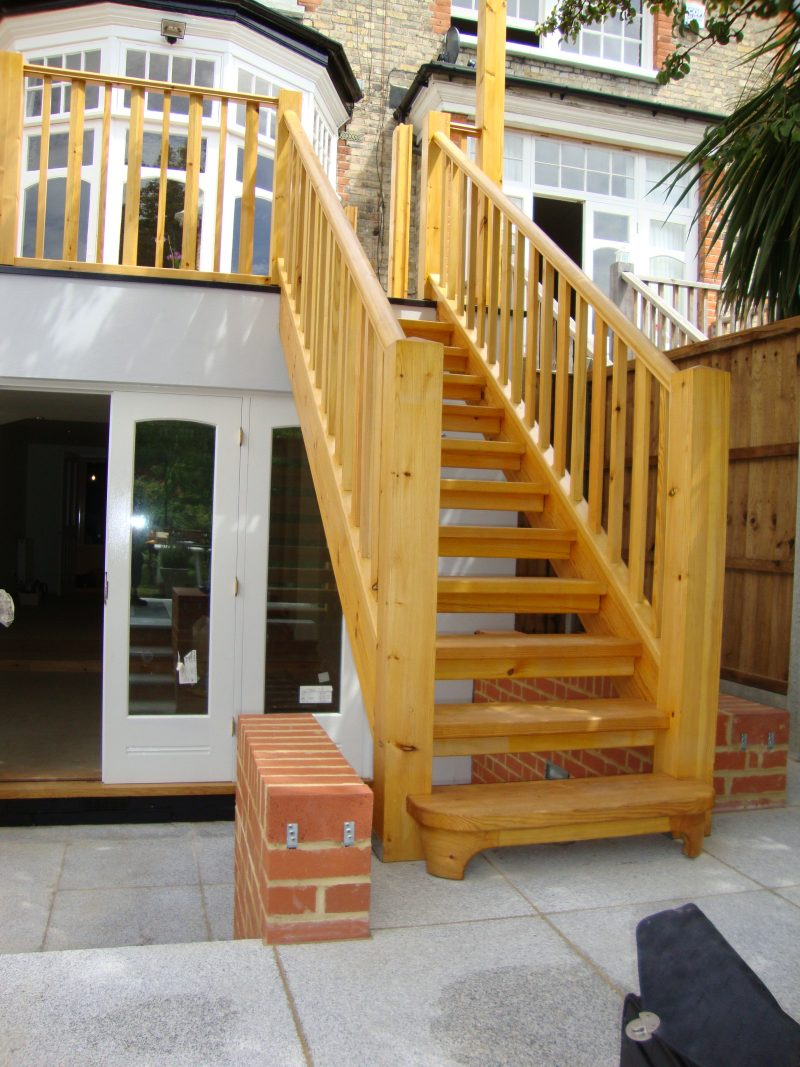 External Wood Staircase and handrail - Essex