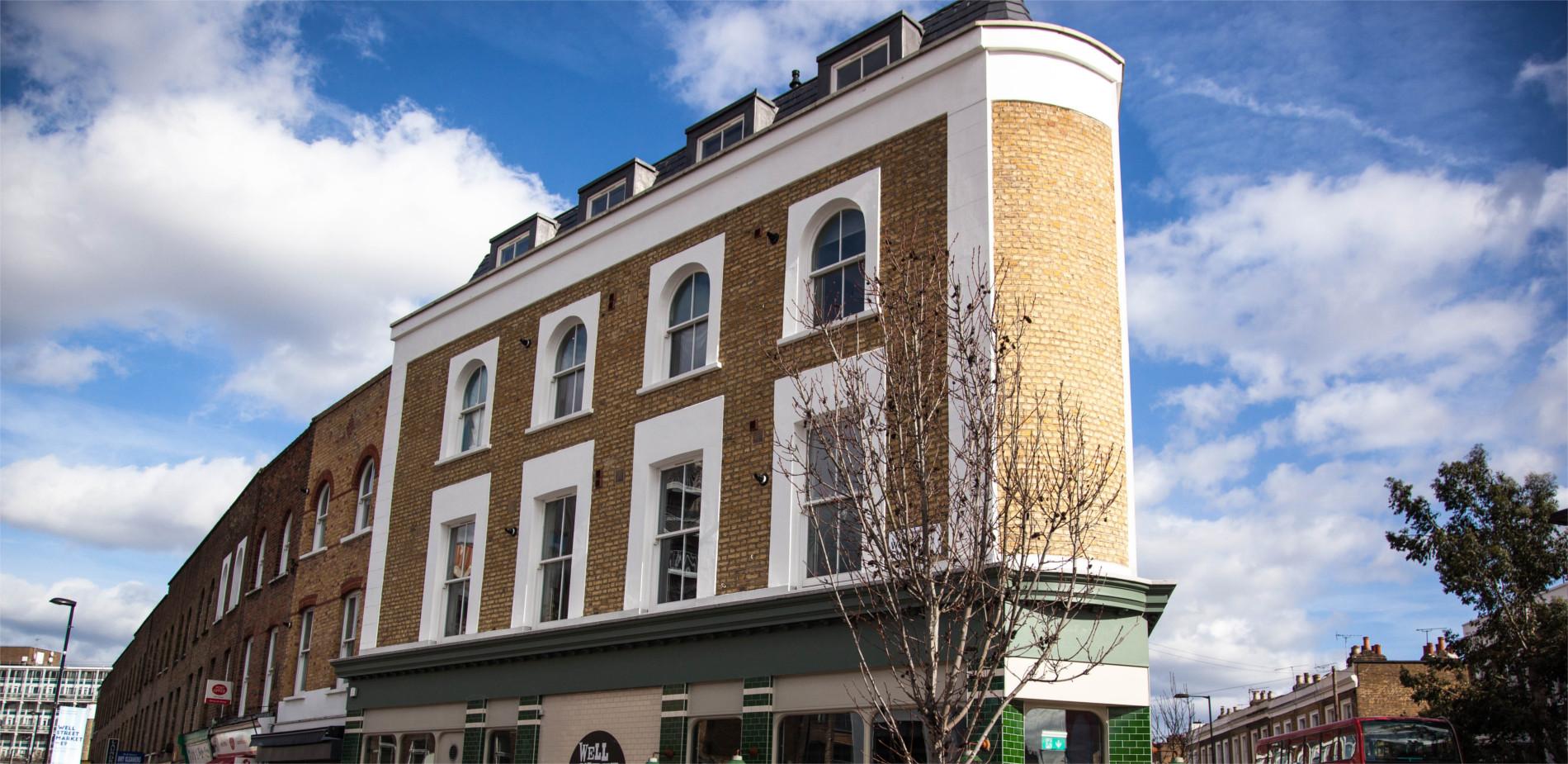 Windows Wells Street, London