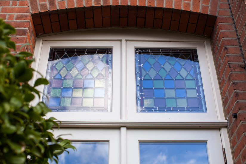 Wooden Stained Glass Casement windows, London