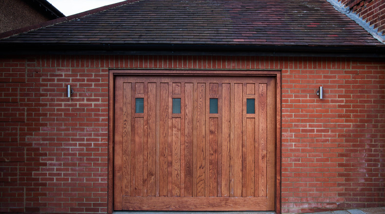 Wooden garage door - Woodford Green