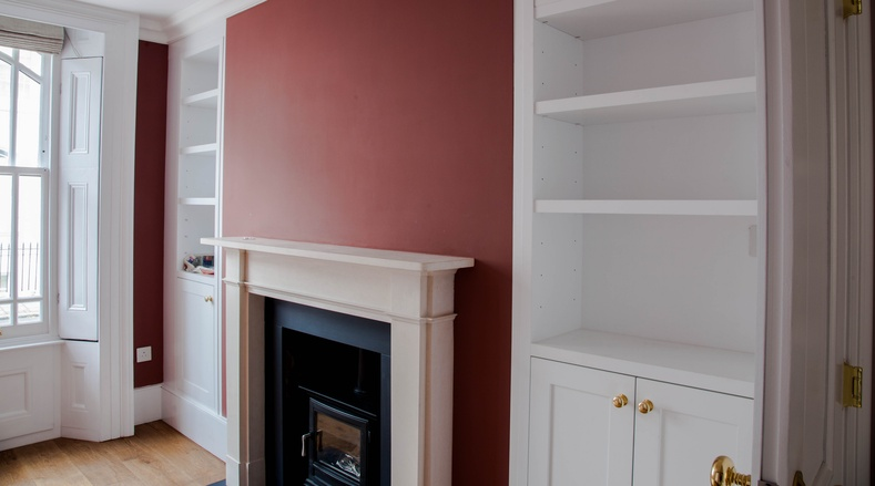 Shelving and sash windows - Victorian renovation - K&D joinery
