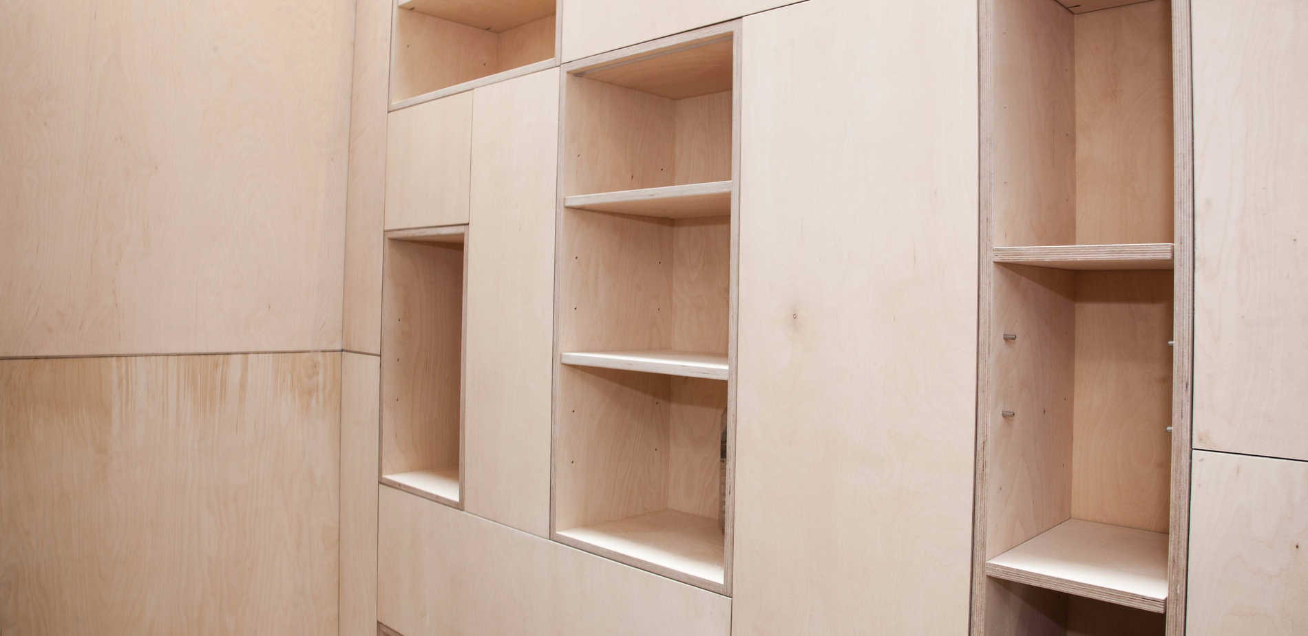 Birch ply interior - Victorian renovation - K&D joinery