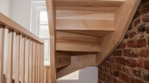 Ash staircase - Victorian renovation - K&D joinery