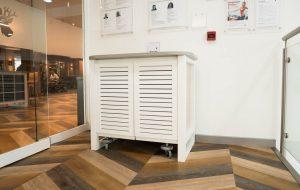 Kandd Indoor Cabinetry set up