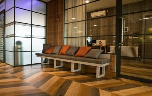 Wooden entrance seating - K&D Joinery London