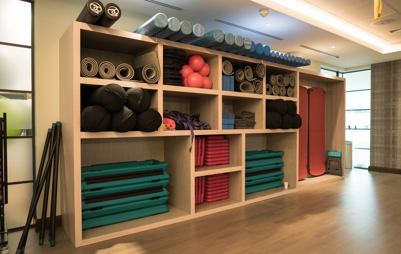 Gym shelving - K&D Joinery London