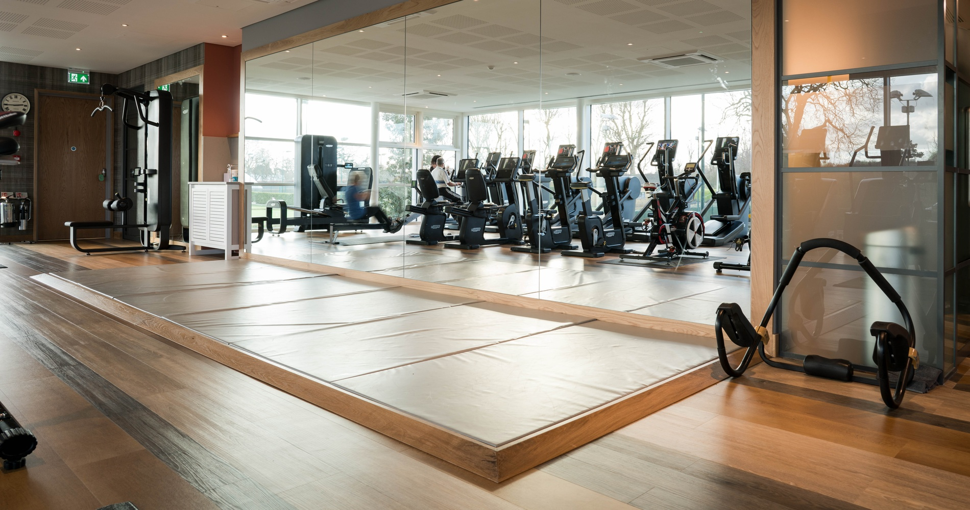 Kandd Indoor Gym Cabinetry set up