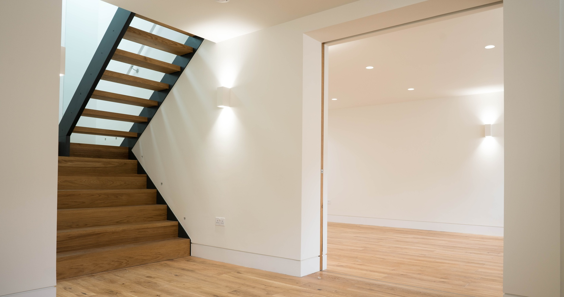 Wooden staircase and sliding internal doors, Marylebone