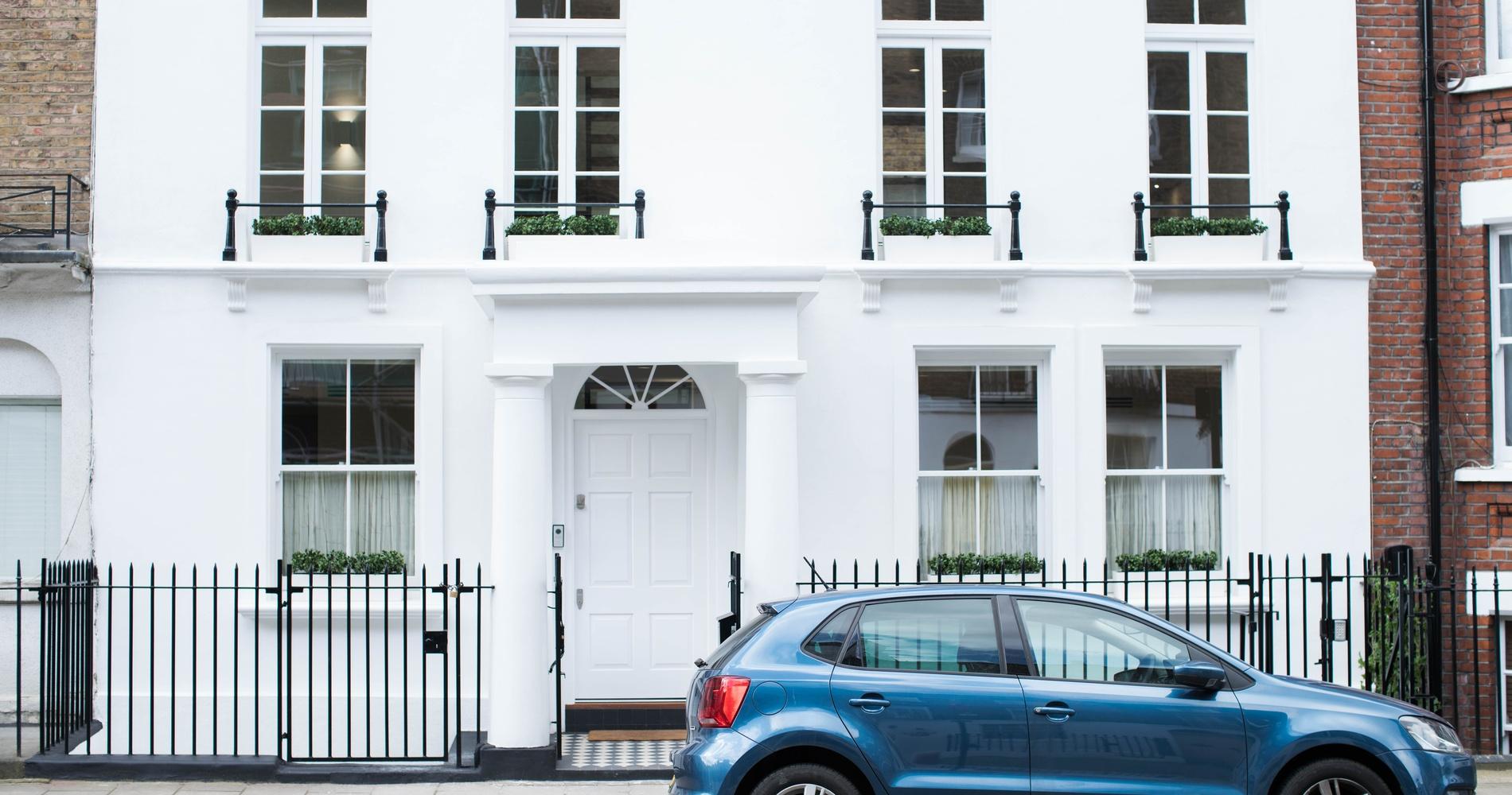 Marylebone Sash Windows and Wood Front Door - West London