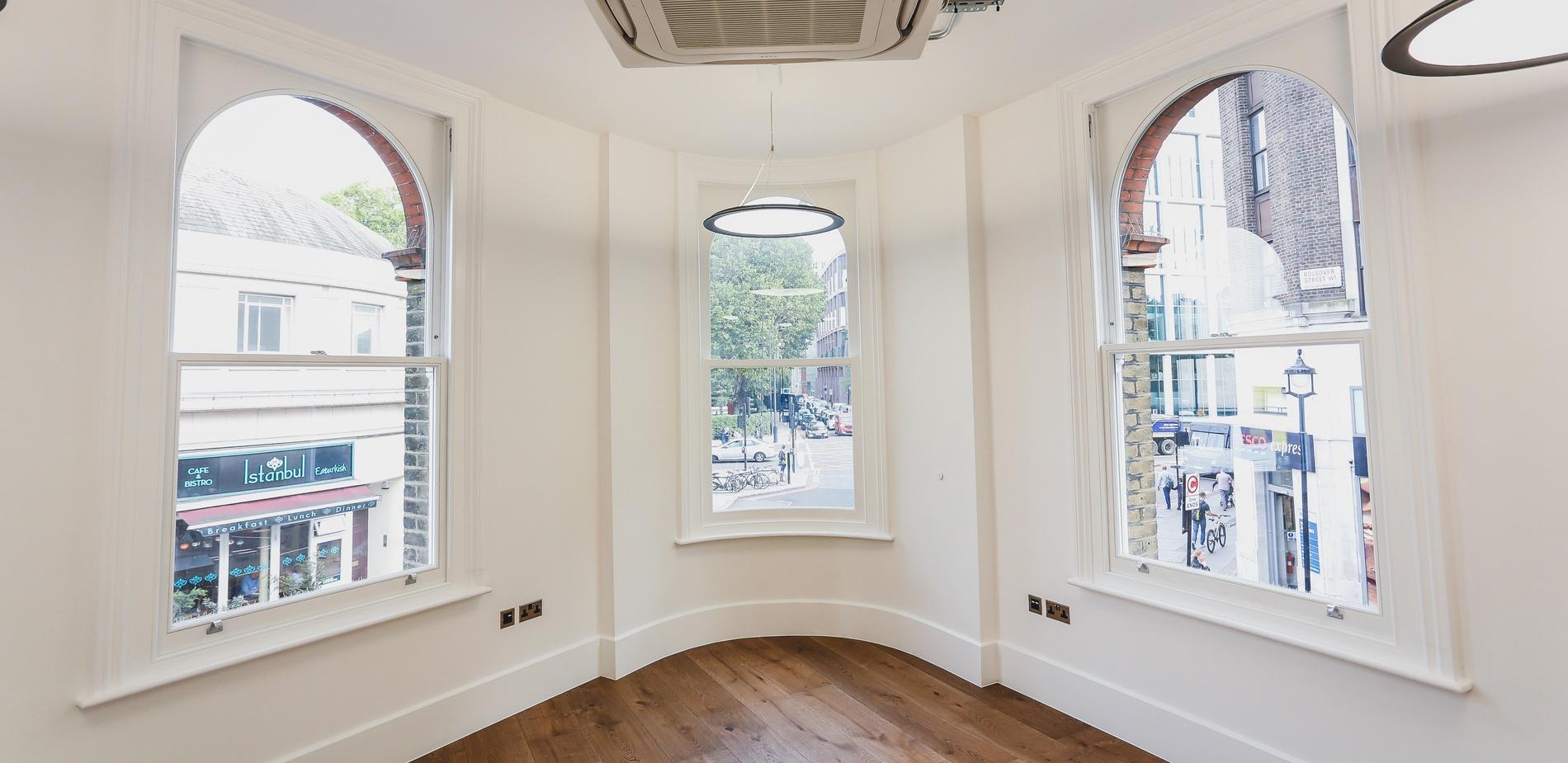 Box Sash Windows - Great Portland Street - K&D Joinery