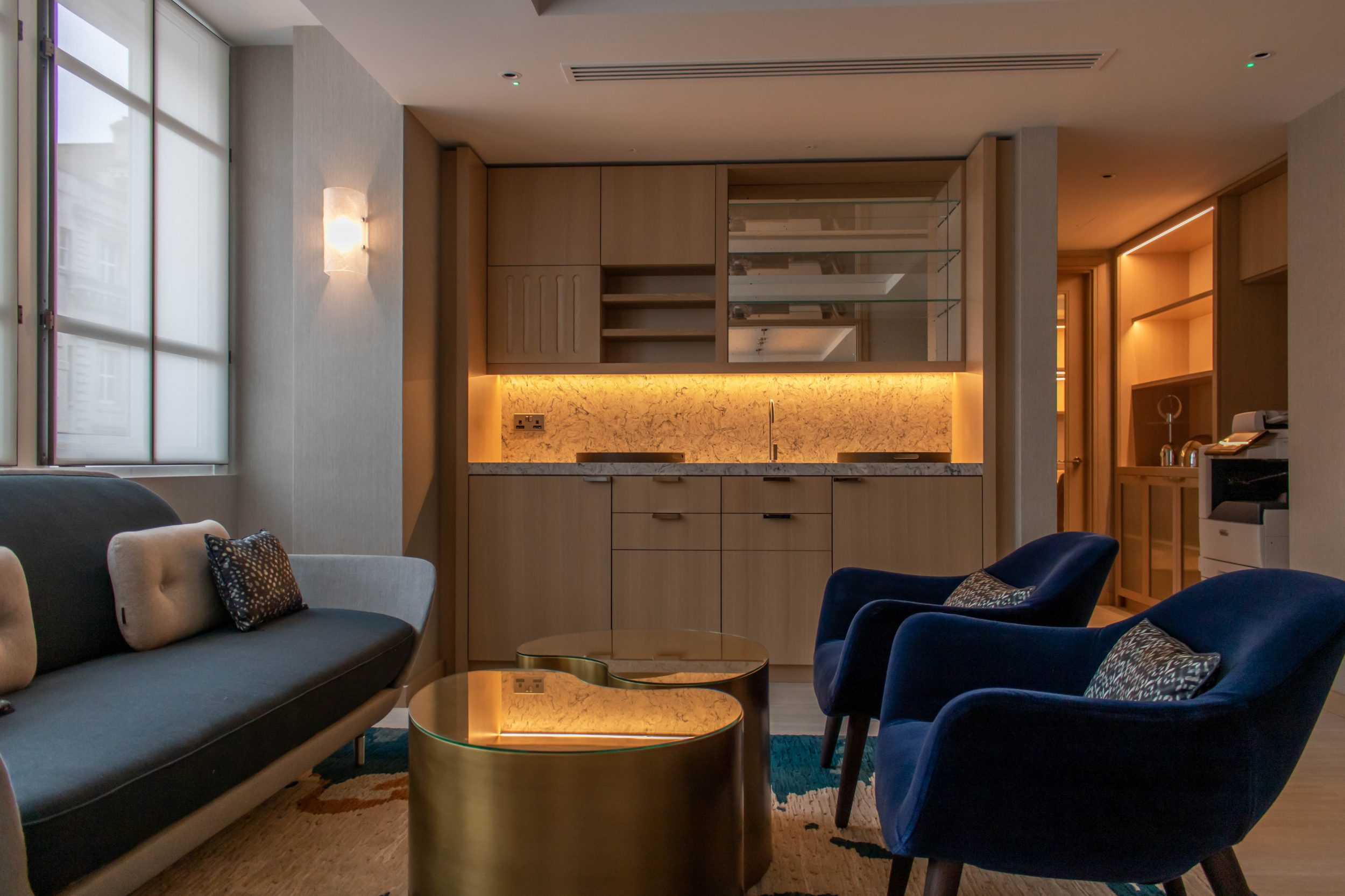 Kandd interior design with cabinetry installed