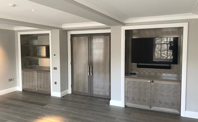Belgravia grey internal door and cabinetry joinery
