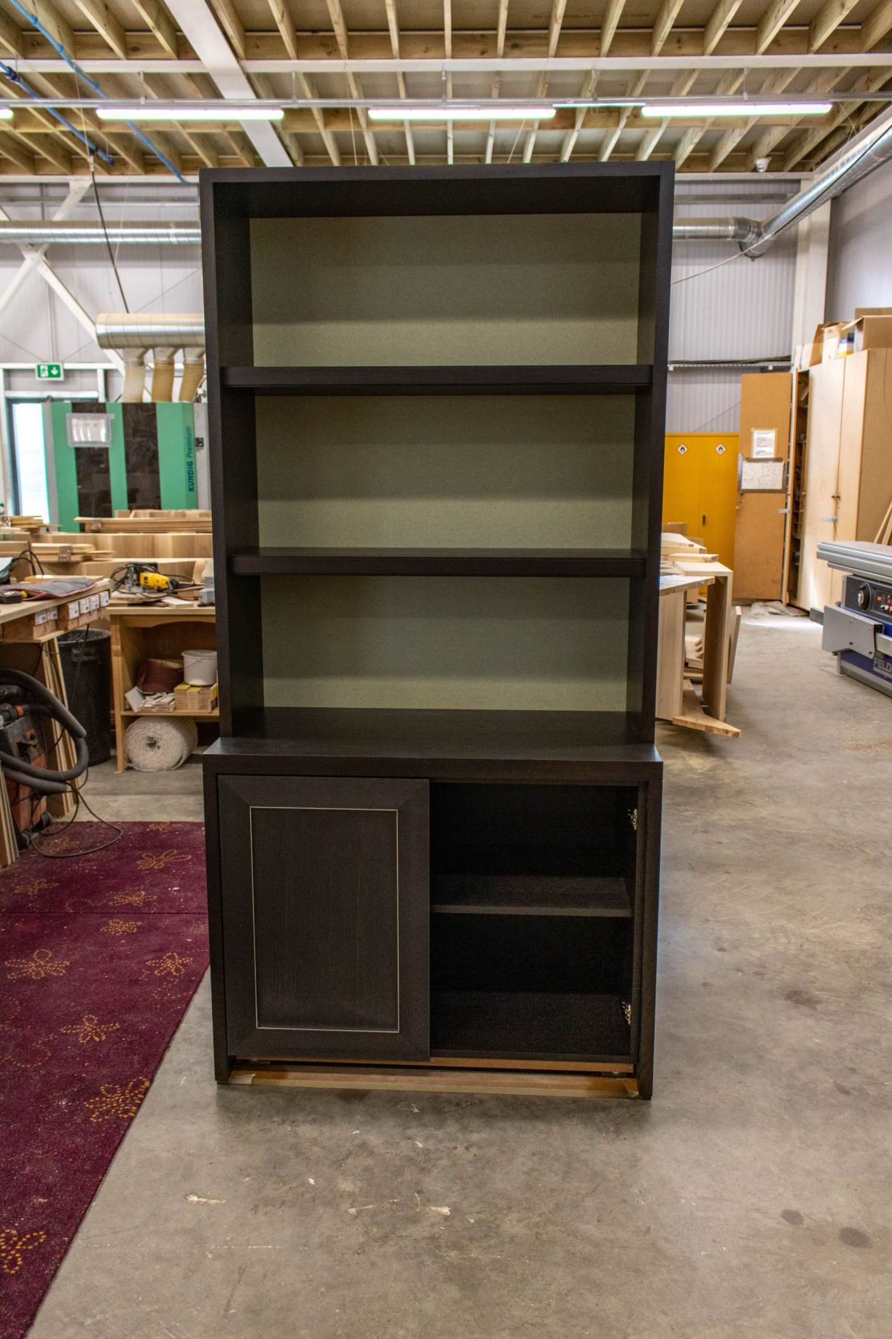 Kandd Black shelves wardrobe