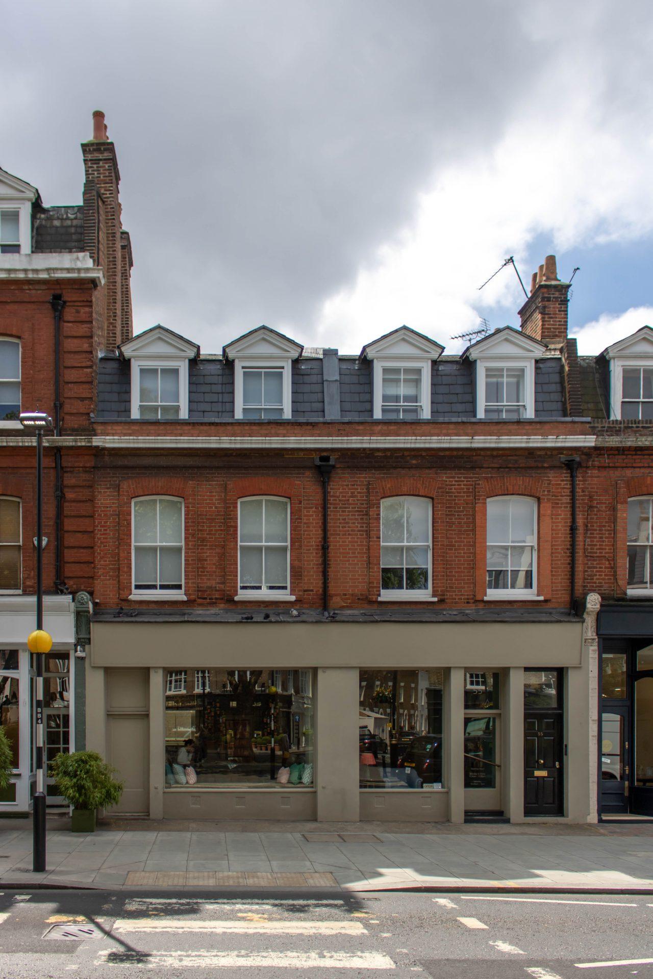 Brickwork shopfront joinery kandd london