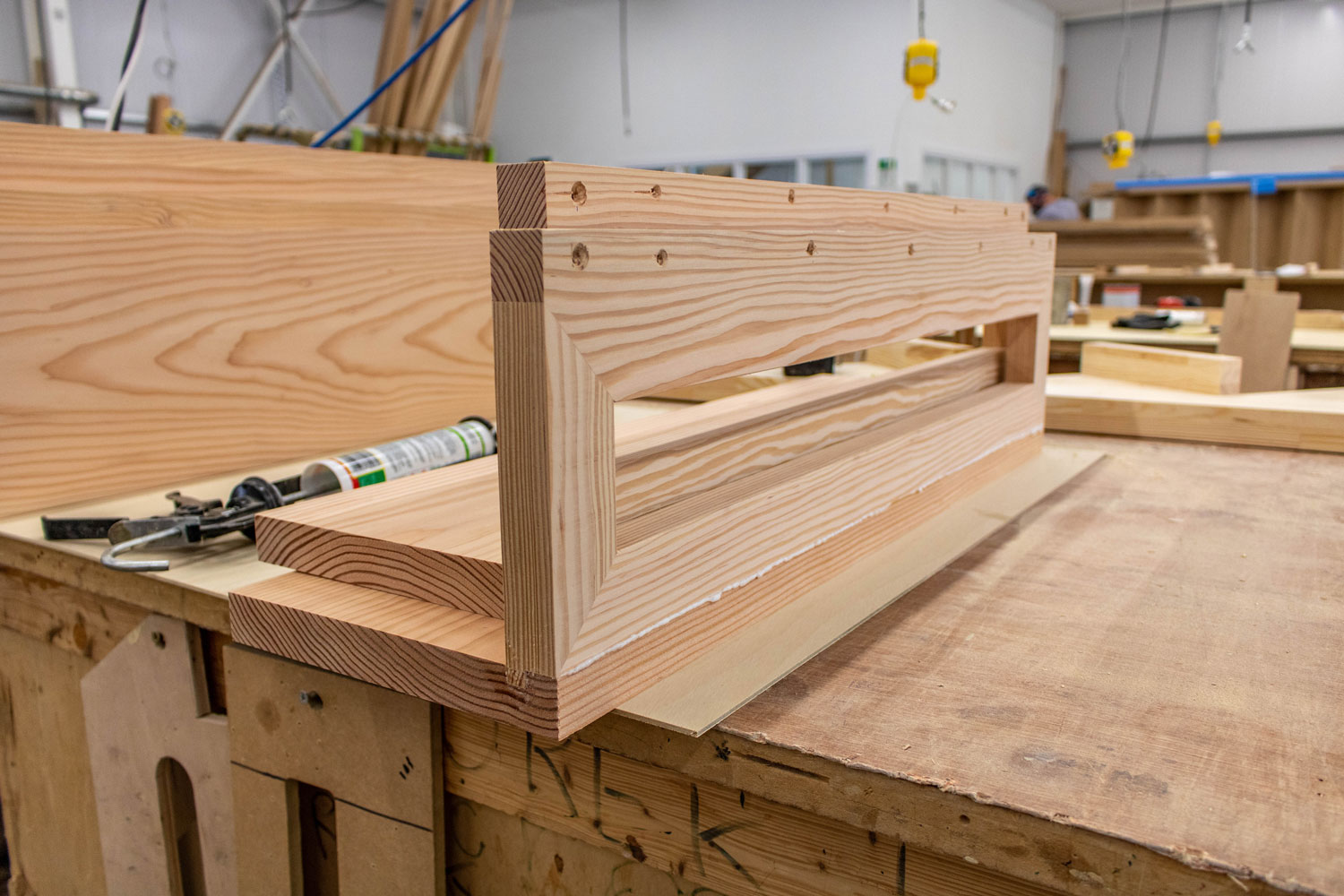 wood sections joined together
