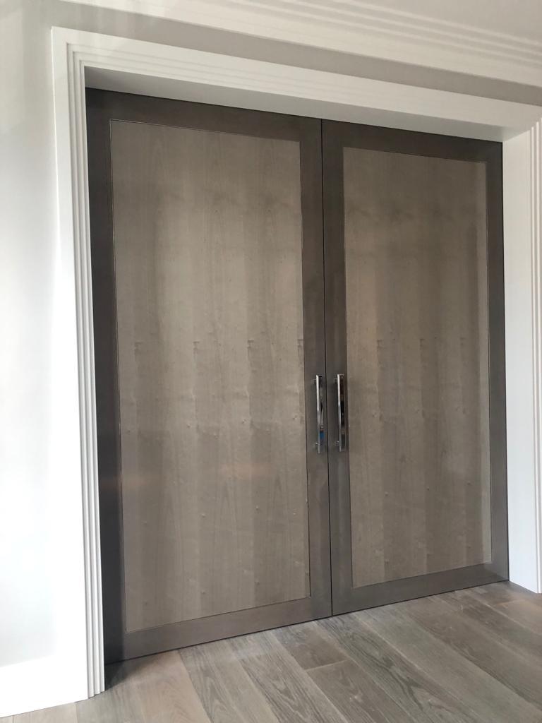 Belgravia internal grey double doors