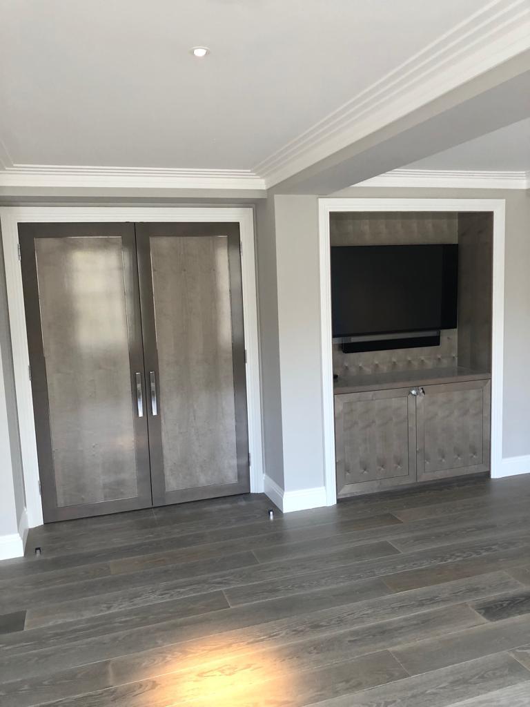 Belgravia grey internal door joinery and cabinetry
