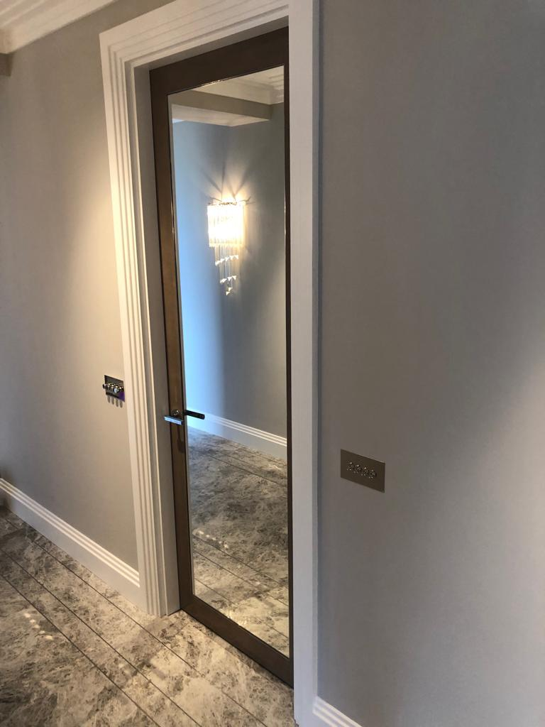 Belgravia grey internal mirrored door joinery