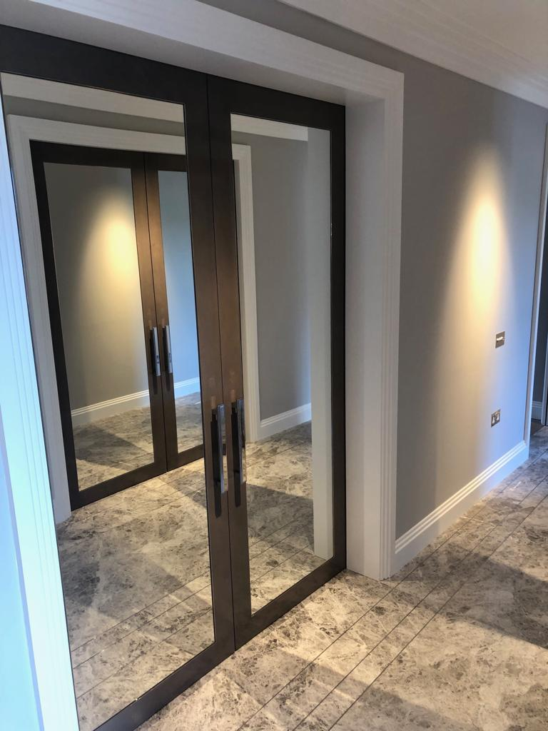 Belgravia grey internal mirrored doors