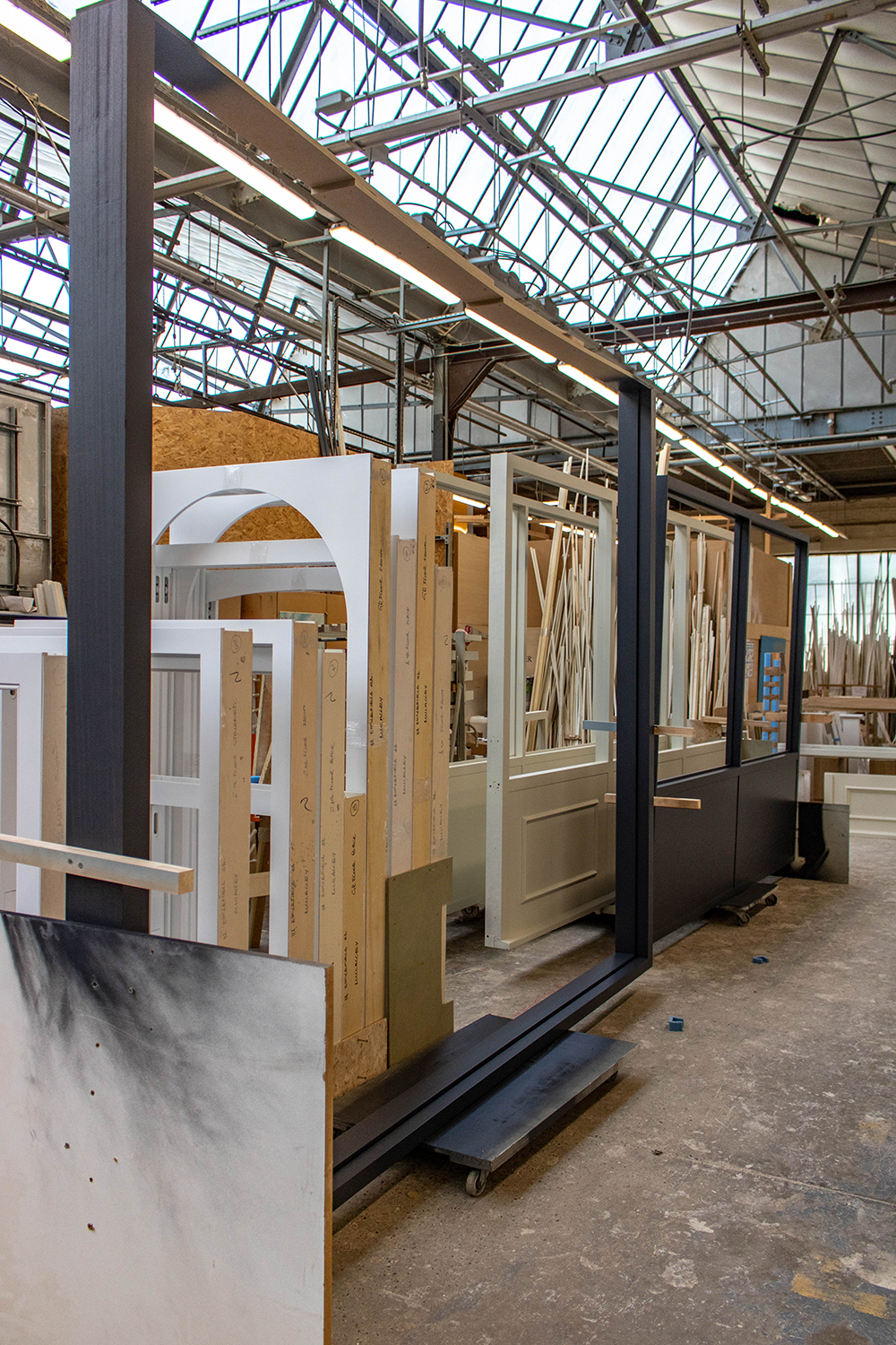 joinery workshop with assorted projects